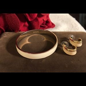 💋Vintage J.Crew Enamel Bracelet & Earrings 💋